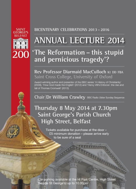 Flyer for St. George's Annual Lecture 2014